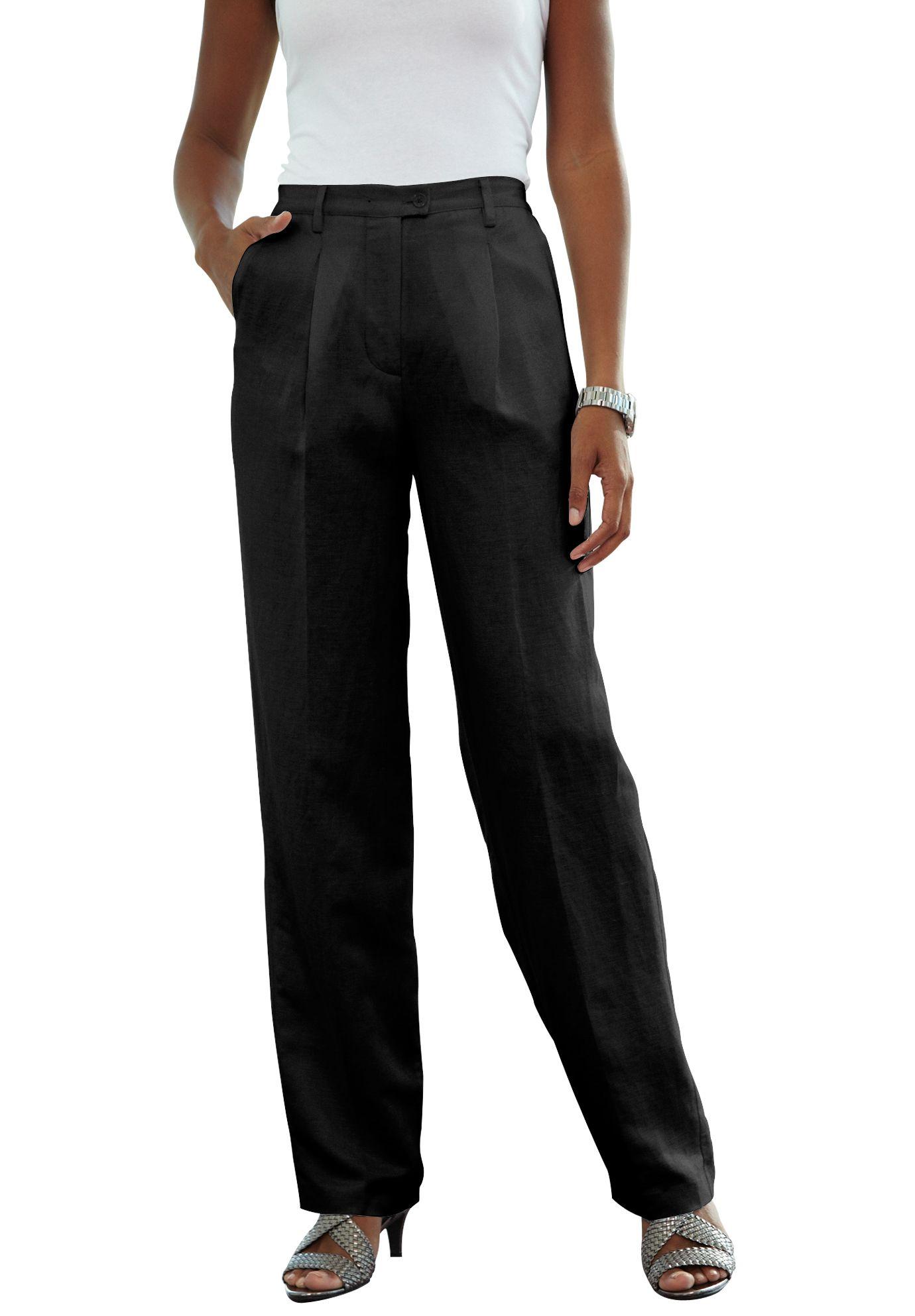Plus Size Linen Blend Pants