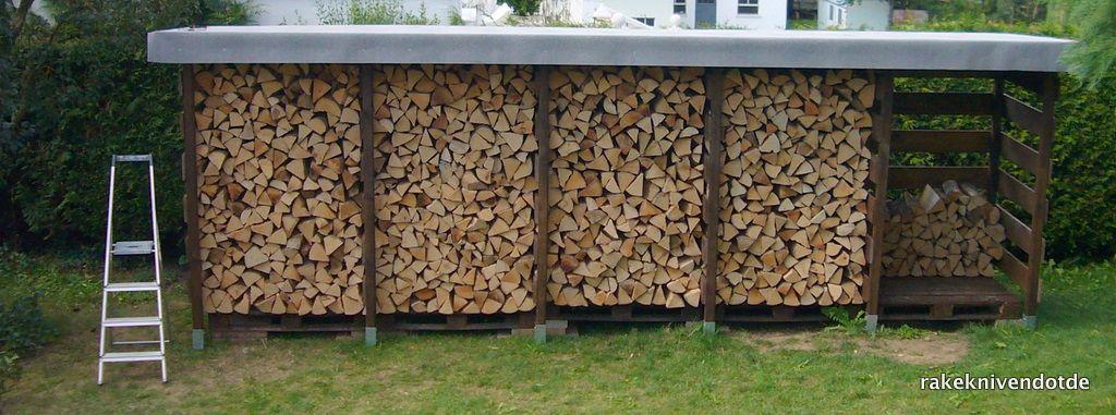 einen stabilen brennholzunterstand brennholzschuppen gut. Black Bedroom Furniture Sets. Home Design Ideas