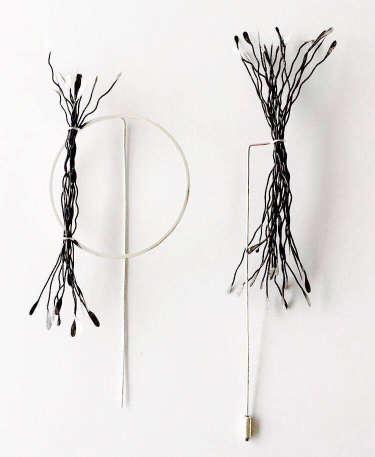 WAVY WIRE PINS BY EMMA STRATHDEE, alumna GLASGOW SCHOOL OF ART ...