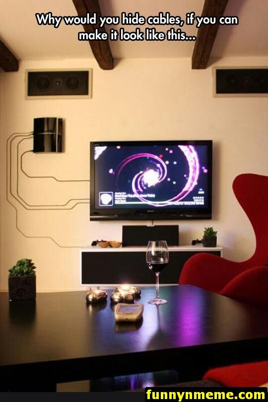Diyer palle olsen picked up some cheap super glue and mounting tape to mount his its four annoying cables the wall also best home theater audio images on pinterest in rh
