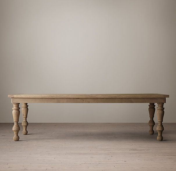 restoration hardware 19th c oak baluster rectangular dining table weathered oak drifted