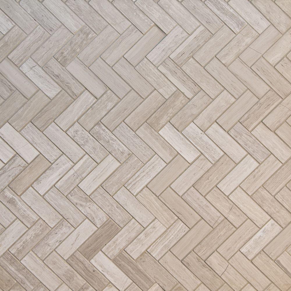 Gl Stone Tile Herringbone Pattern