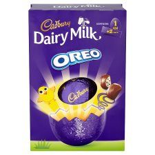 Cadbury oreo egg 278g groceries tesco groceries easter a large cadbury milk chocolate easter egg with 2 moreish cadbury dairy milk oreo bars a perfect easter gift negle