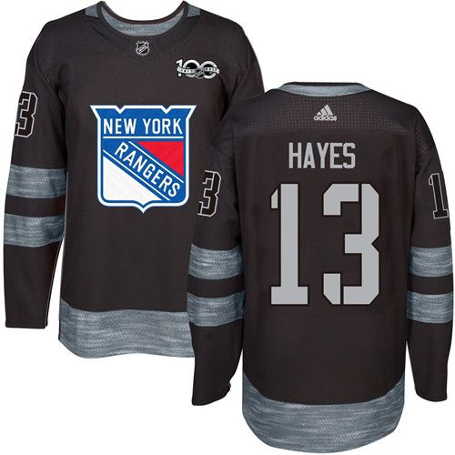 quality design 5a47d 757ac Rangers #13 Kevin Hayes Black 1917-2017 100th Anniversary ...