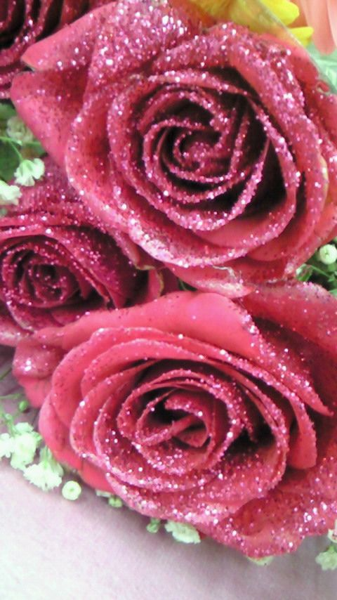 I Want To Give My Teenager Some Pink Glitter Roses Because Shes