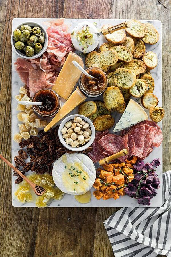 Create a Gorgeous Cheese Board Platter #charcuterieboard