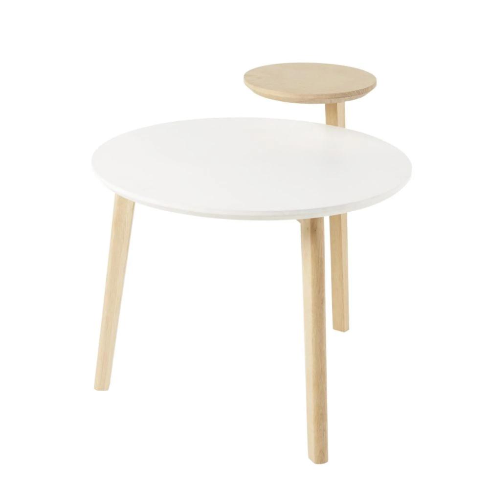 Beistelltisch Mit 2 Platten Rund Maisons Du Monde In 2020 Beistelltisch Tisch Beistelltisch Rund
