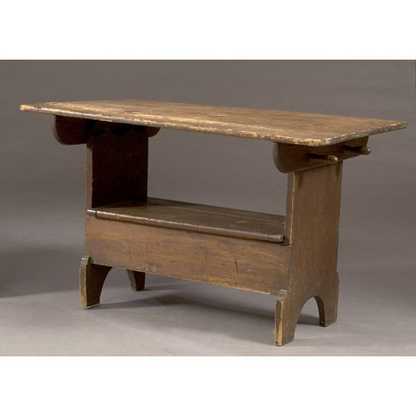 Pin On Seat Or Table, Country Primitive Furniture Pennsylvania