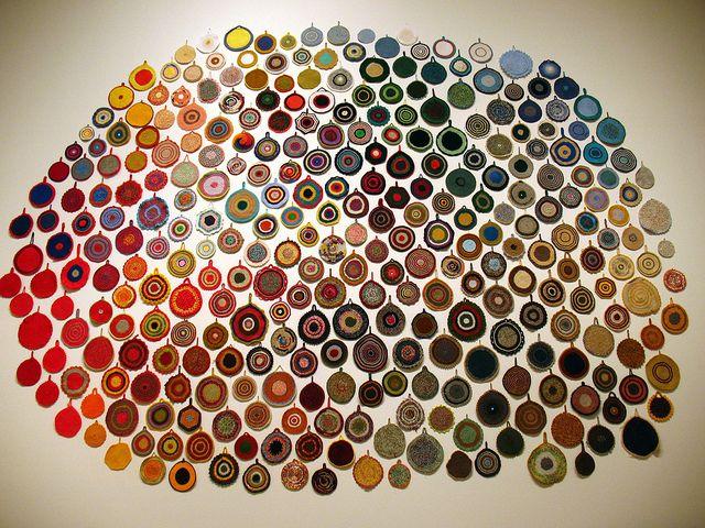 'Real colour circles' [äkta färgcirklar] by Anu Tuominen