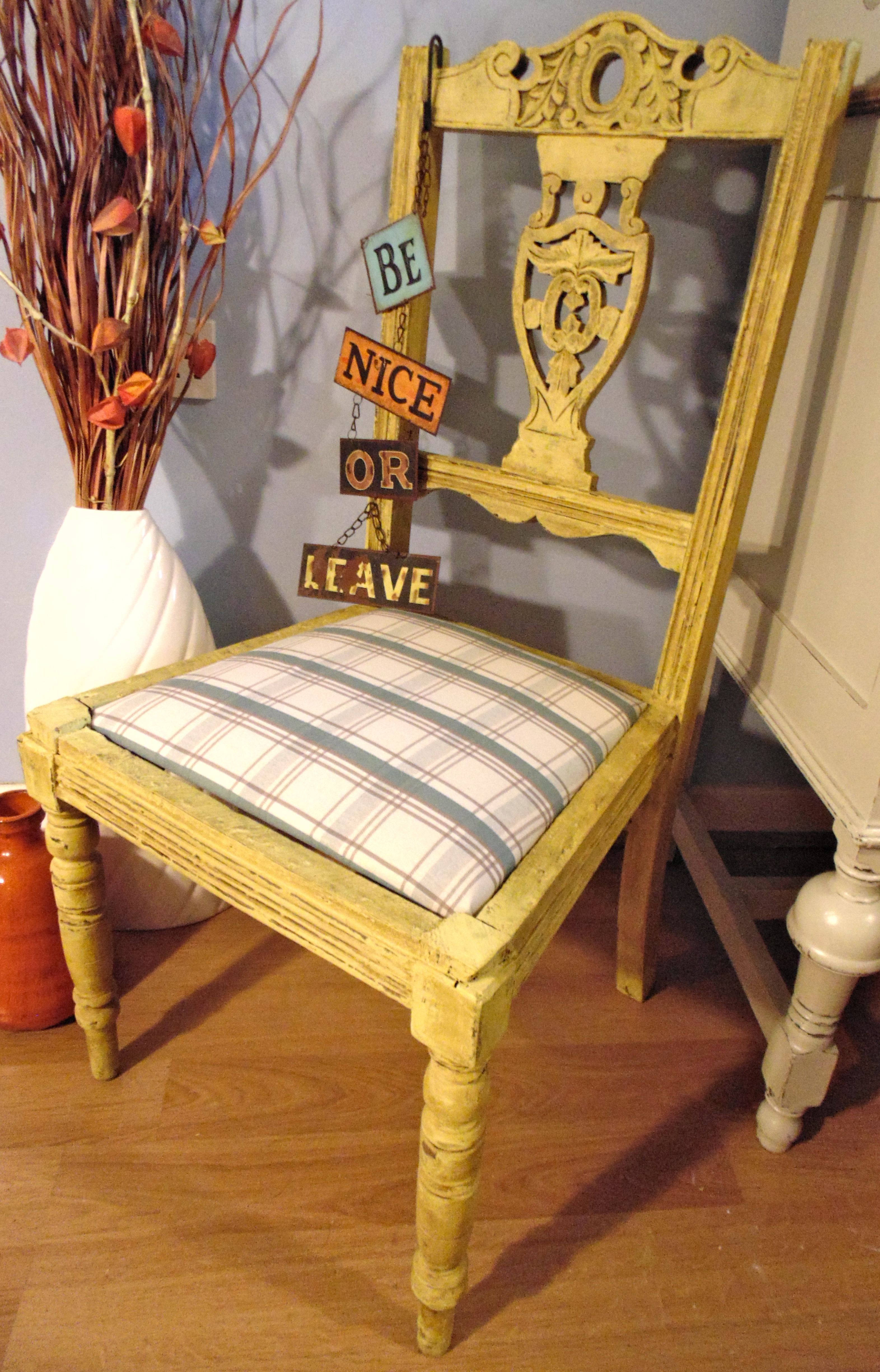 Yellow shabby chic furniture - Preloved Furniture Updated For A Shabby Chic Look