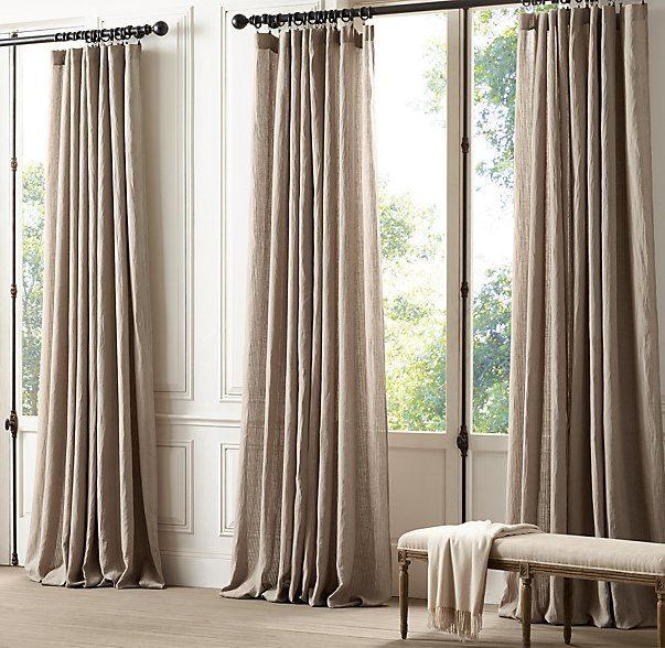 Mini Sheer Stripe Drapery Restoration Hardware Curtains Home