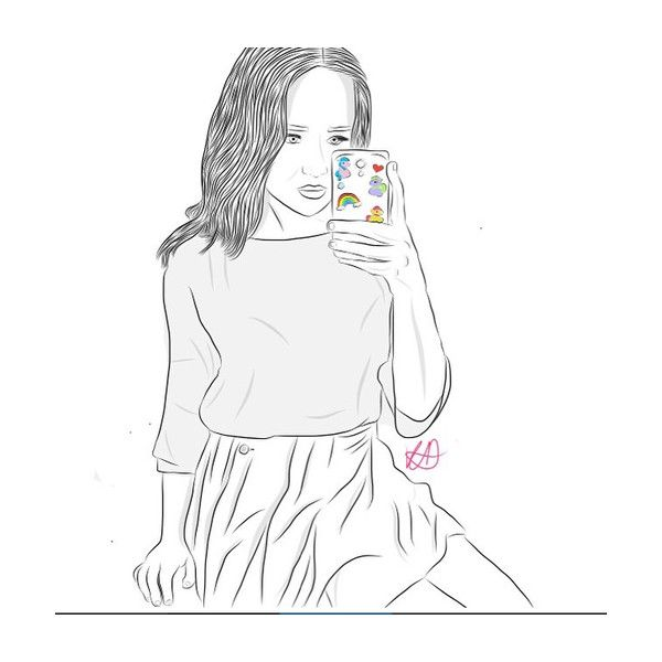 We Heart It ❤ liked on Polyvore featuring outline