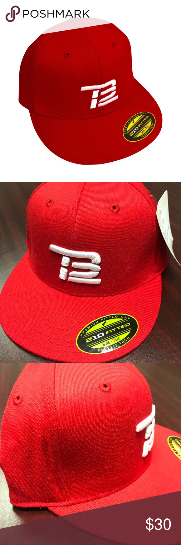 19e3baefd268b NFL Patriots TB12 Tom Brady Red Fitted Cap For sale is a Size Fitted ...