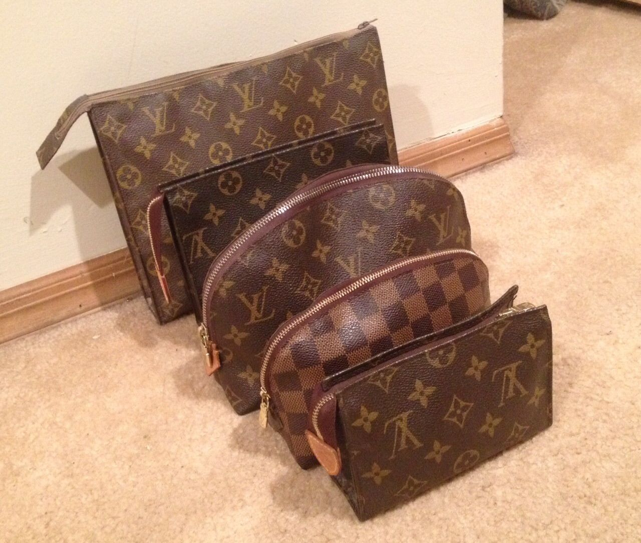 LV Toiletry Pouches and Cosmetics Pouches - size comparison ... 711e3abcc3b96