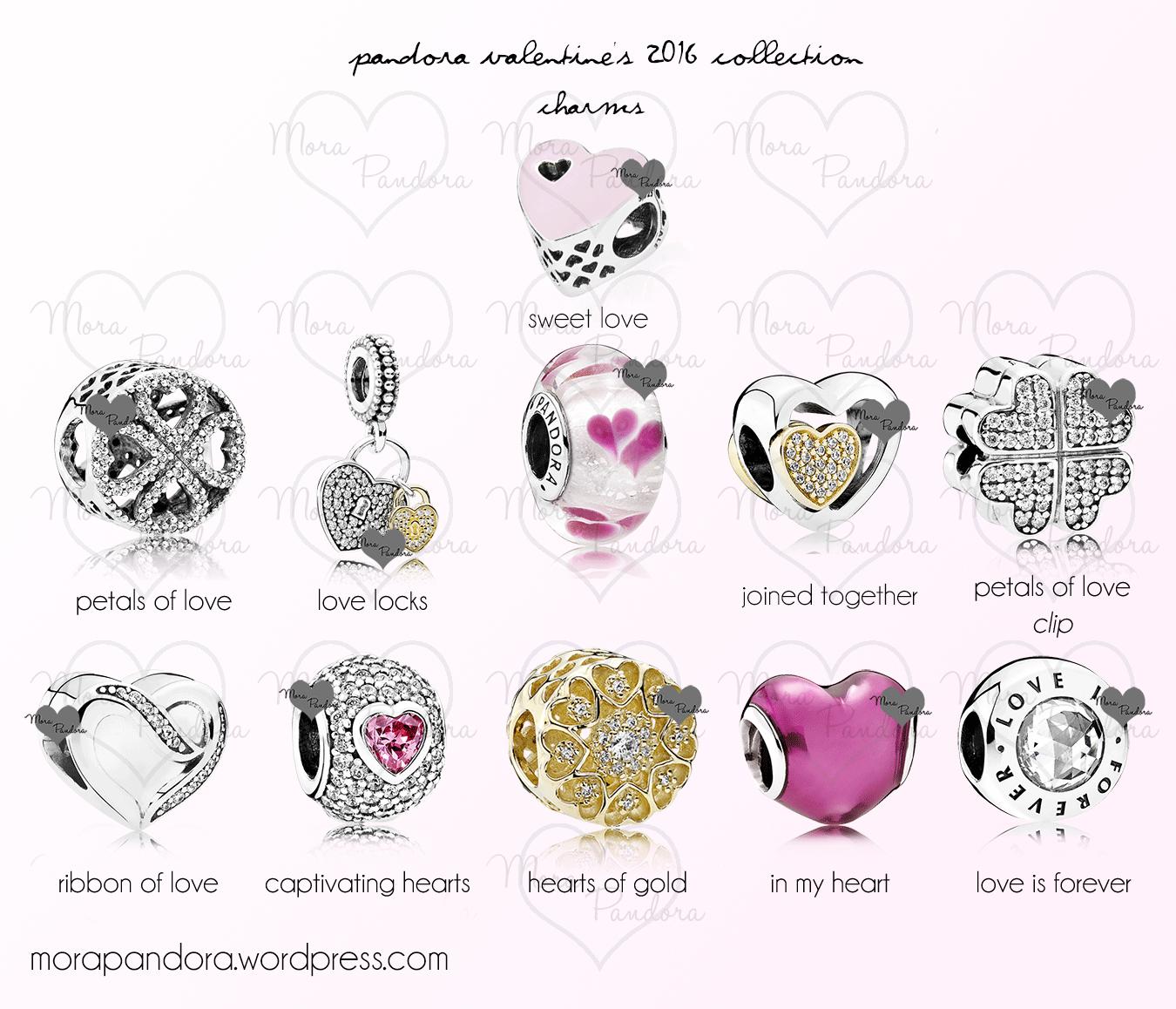 pandora valentines 2016 preview charms pink - Valentines Pandora Charms