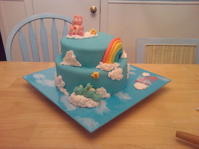 care bear cake by Hoo's Cakes, via Flickr