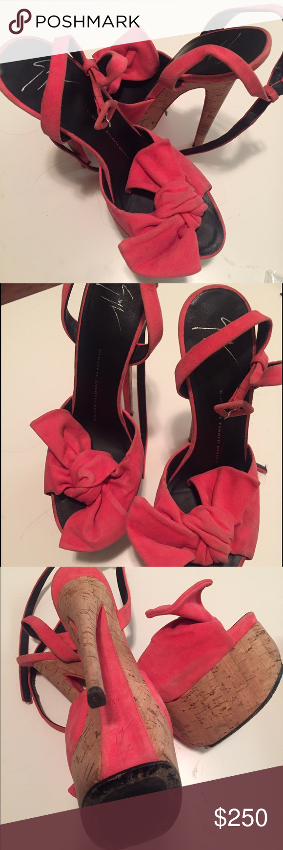 Giuseppe Zanotti Bow Sandals 39 Pre owned. Does not include box/dust bag Giuseppe Zanotti Shoes Heels