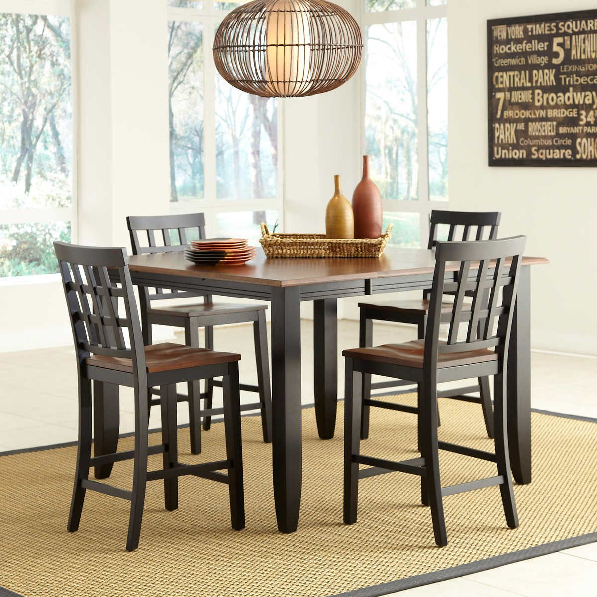 Somerset 5 Piece Counter Height Dining Set Dining Table