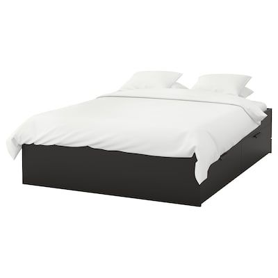 Brimnes Bed Frame With Storage Headboard Black Luroy Full
