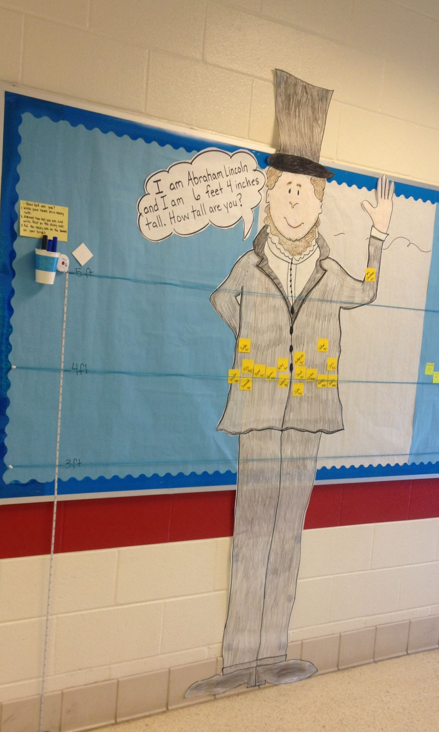 Interactive Bulletin Board For Students To Measure And