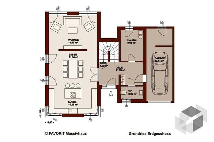 Favorit Massivhaus concept design 162 favorit massivhaus komplette datenübersicht