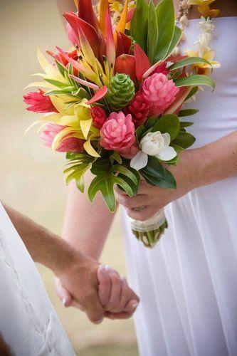 Hala Tropical Flowers Wedding Bouquets Hana Maui Hawaii