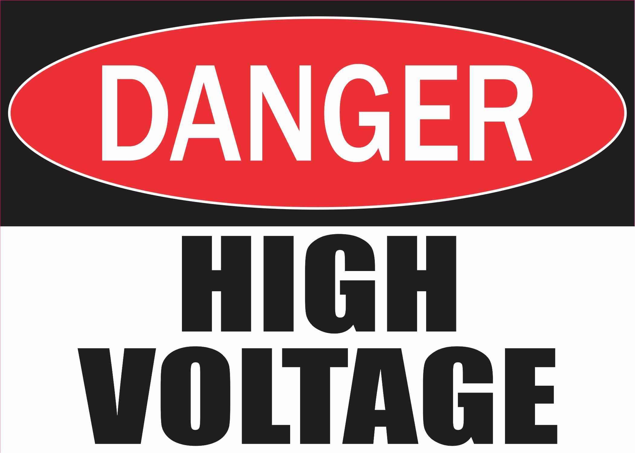 14in X 10in Danger High Voltage Sticker Stickertalk High Voltage Dangerous Black Panther Images