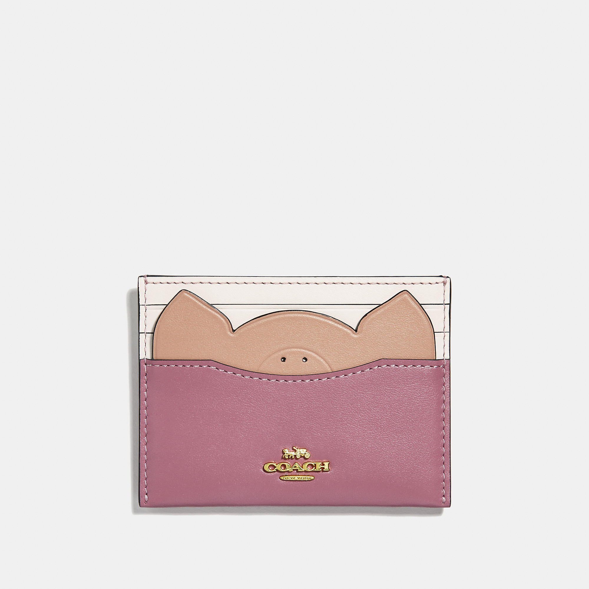 173c54eb5e COACH Card Case With Pig - Women's Cardholder in 2019 | Products ...