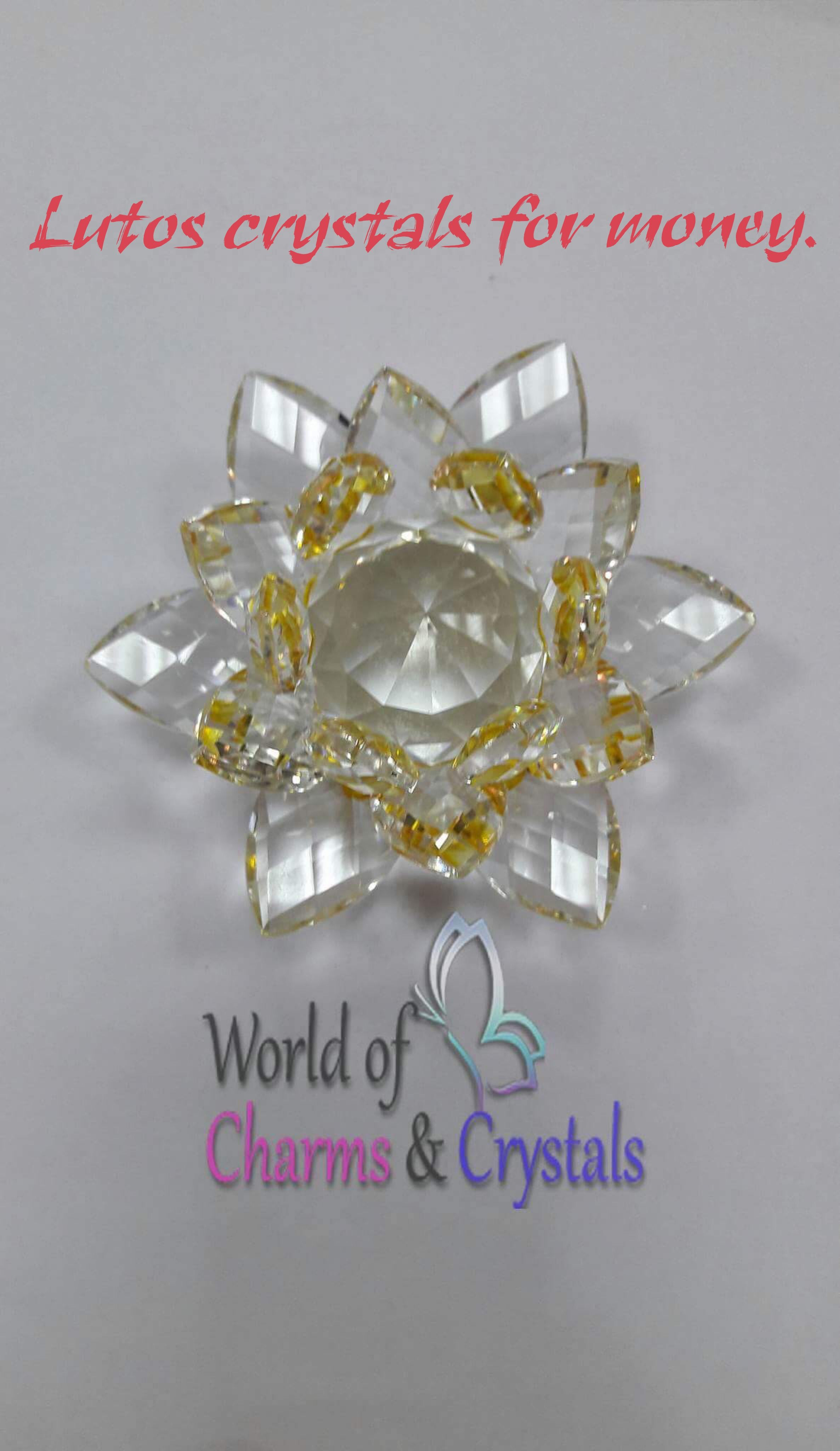Crystal Lotus Flower Absorbs Negative Energies Creates Harmony And