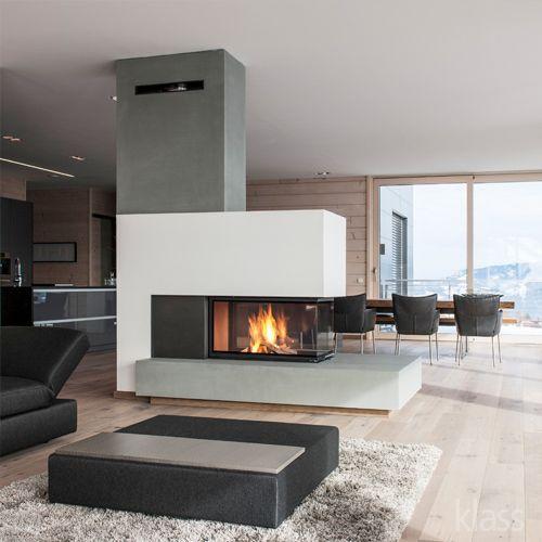 bildergebnis für moderne kamine als raumteiler | kamindesign ... - Wohnzimmer Kamin Design