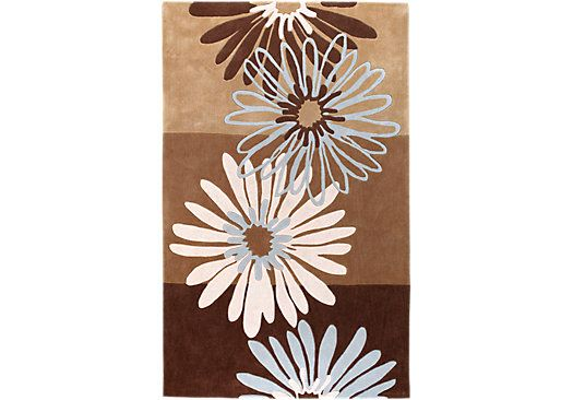 Shop for a Neutral Flowers 5 x 8 Rug at Rooms To Go. Find Rugs that will look great in your home and complement the rest of your furniture.