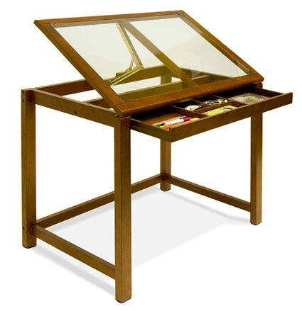 Sierra Glass Top Drafting Table Studio Design Would Be A Great Way To Combine Light Studio Drafting Table For Design Art Table Drafting Table Drawing Table