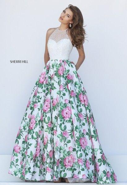 Sherri HIll 50451 | Bridal Elegance | Prom Dresses | Flirty Florals ...