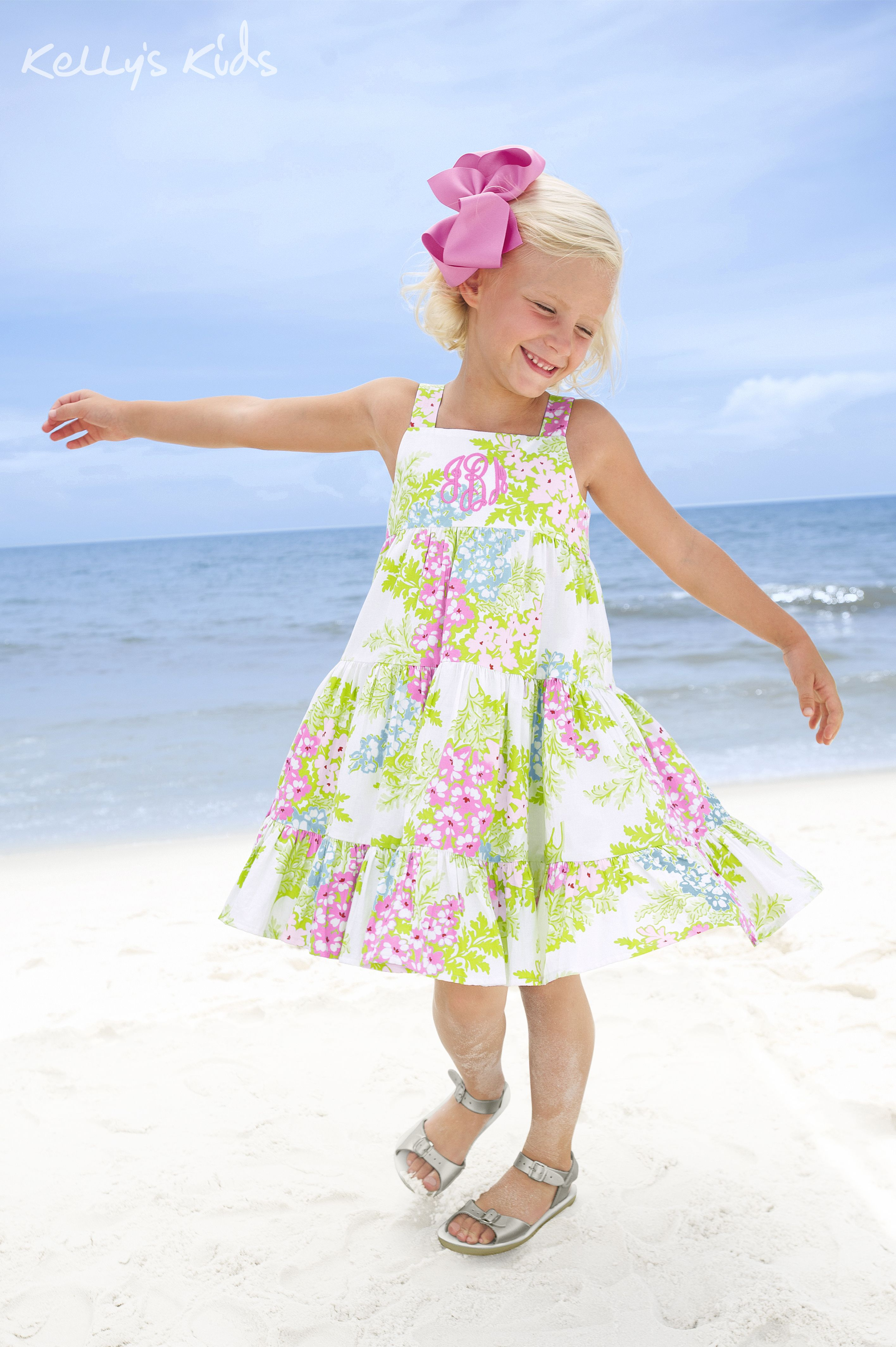This dress was made for twirling! Made out of quality cotton poplin, this summer dress is as comfortable as it is beautiful. | $48 #spring #clothes #girls #summer #vacation