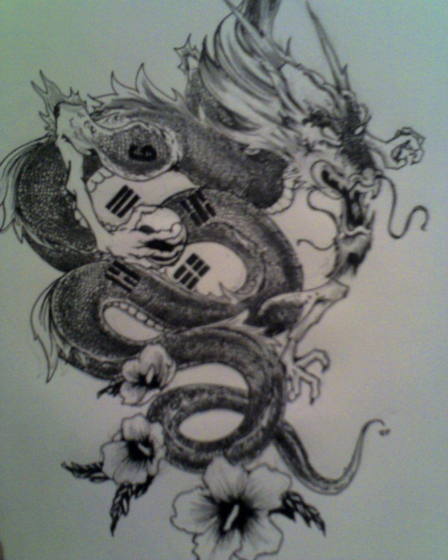Korean Dragon: Korean Dragon Tattoo Design By Restless-Idiot.deviantart