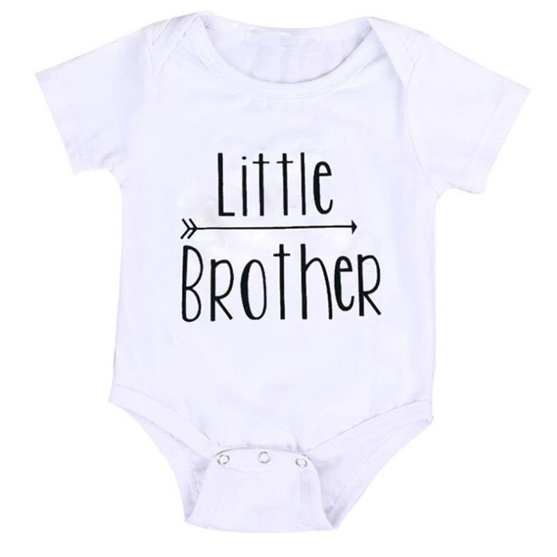 989f2e7a4405 Click to Buy    2017 Summer Baby Boy Jumpsuit Little Brother Romper ...