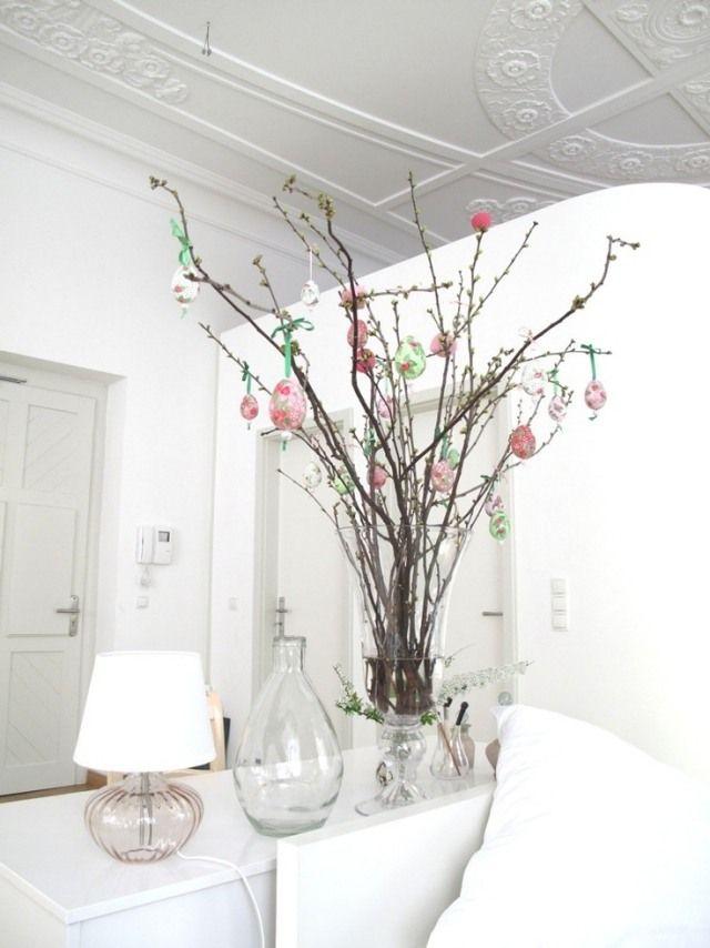 d coration de la maison fabriquer un arbre de p ques d co p ques pinterest arbre de. Black Bedroom Furniture Sets. Home Design Ideas