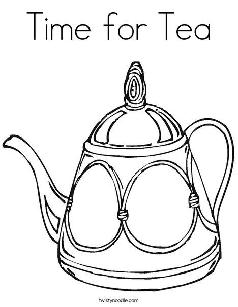Decorative Teapot Coloring Page Coloring Pages Free Printable