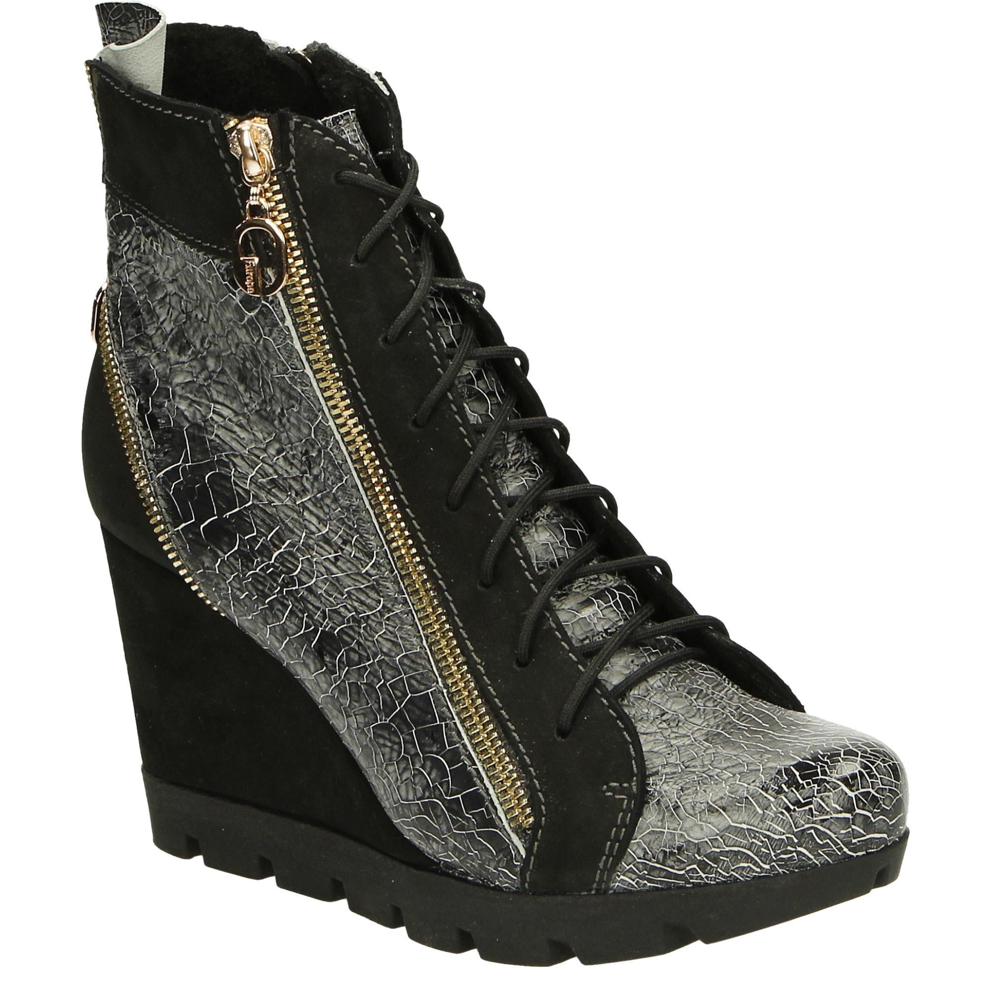 Botki Na Koturnie 2921 Grig Ner Wedge Sneaker Sneakers Shoes