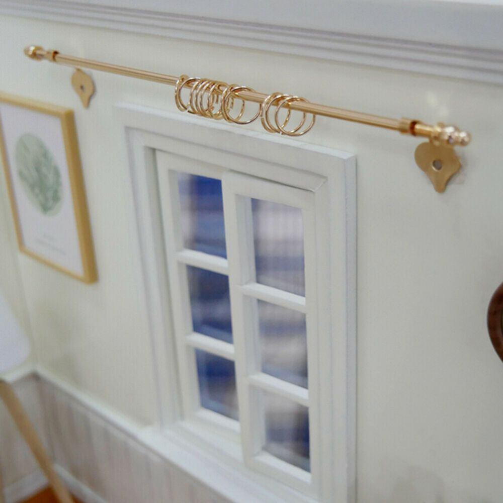 1:12 Dollhouse DIY miniature curtain rod mini exquisite dollshouse accessories /&