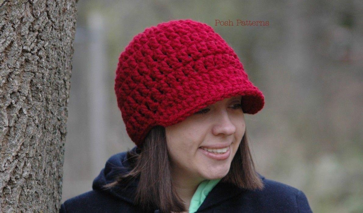 Crochet patterns ribbed newsboy hat crochet pattern bankloansurffo Gallery