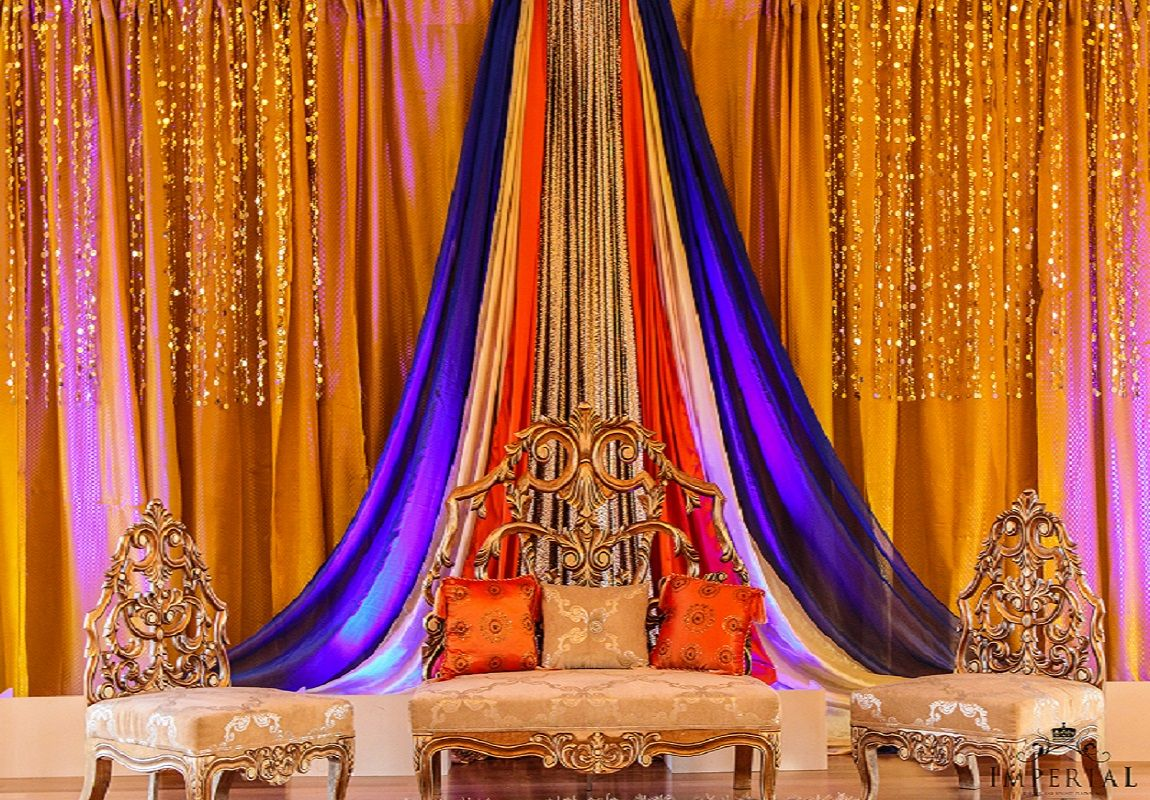 Mehndi Ceremony Backdrop : Cappuccino rental drapes backdrops from atomic design