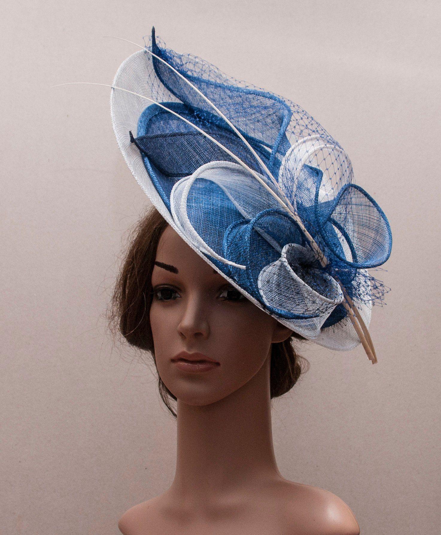 Large serre-tête fascinator chapeau avec aliceband mariage femmes jour de course royal ascot