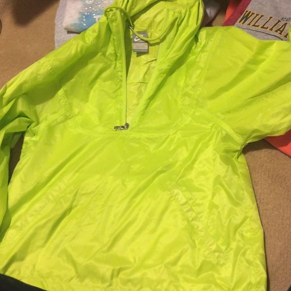 70b11a188394 Nike Rain Jacket Neon green rain jacket