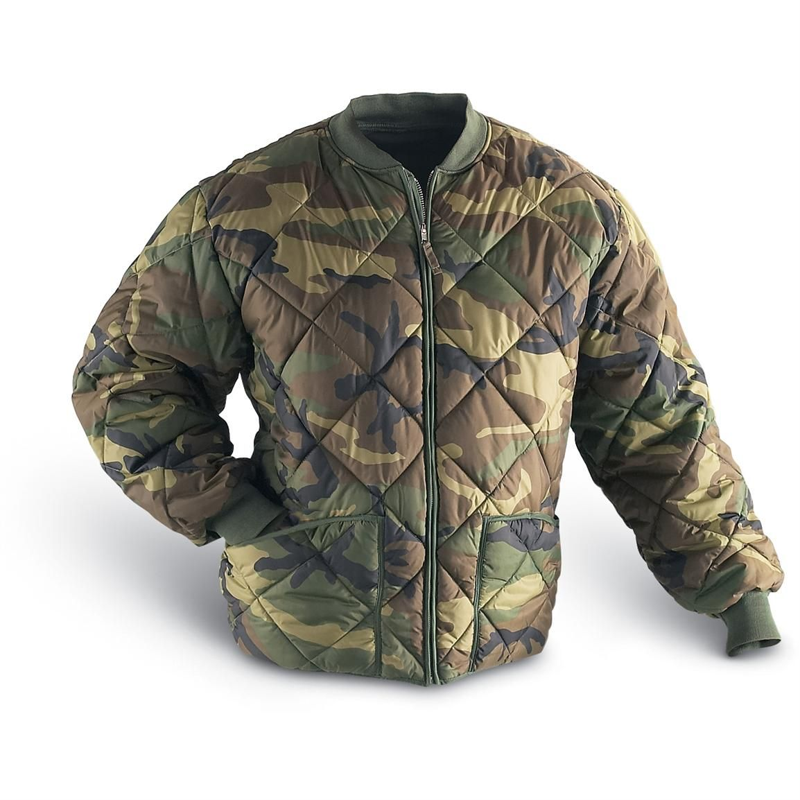 Military insulated diamond quilted flight jacket 95897