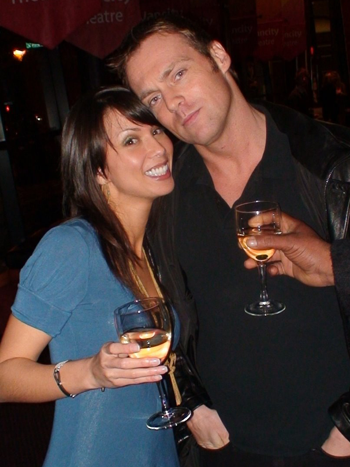 Happily married husband and wife: Michael Shanks and Lexa Doig