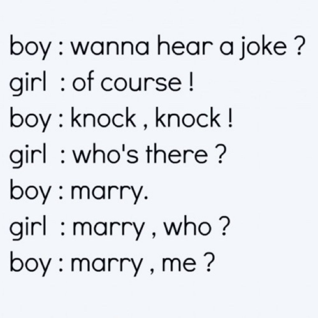 I Love Knock Knock Jokes So If I Could Get This As A Proposal That Would Be Perfect