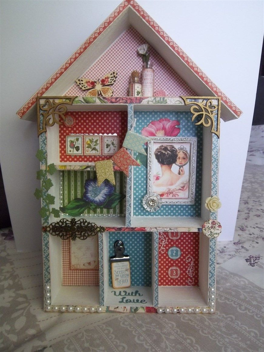 House Shaped Shadow Box Docrafts Com