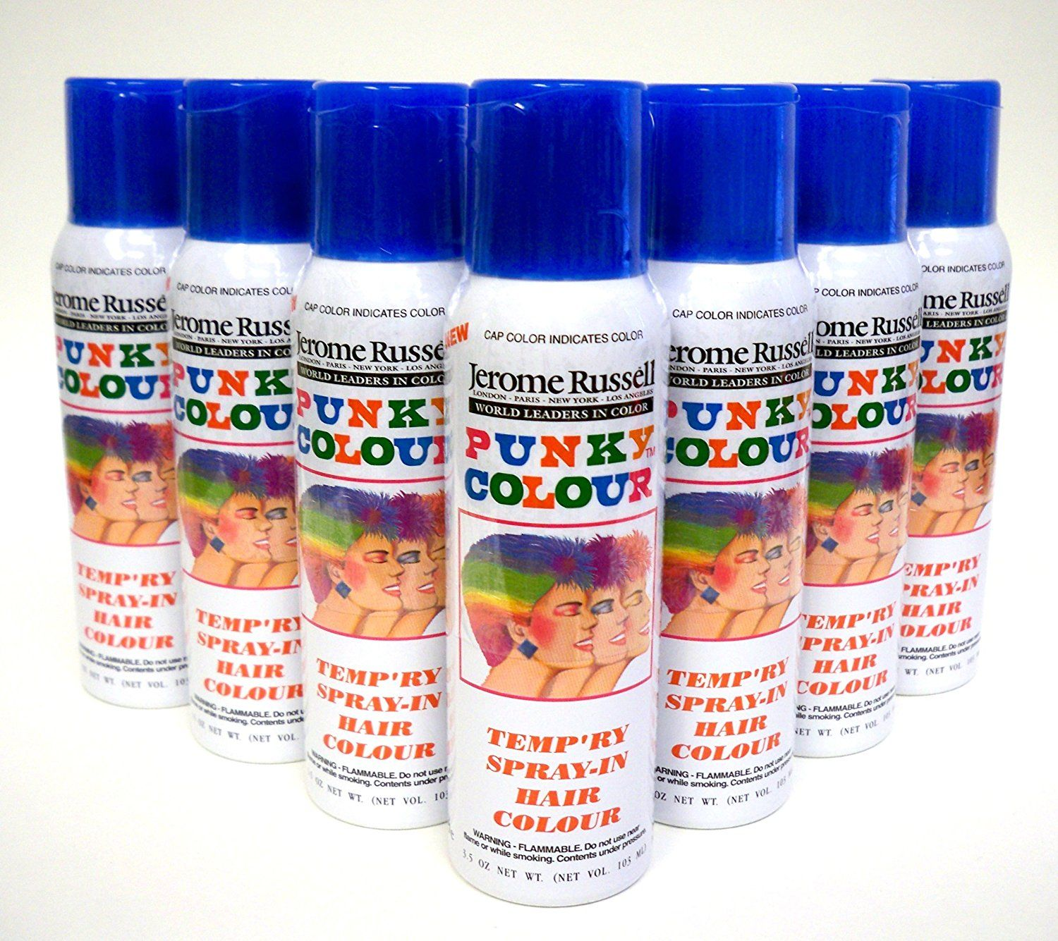 Jerome Russell Temporary Hair Color Spray Shampoos Out Sky
