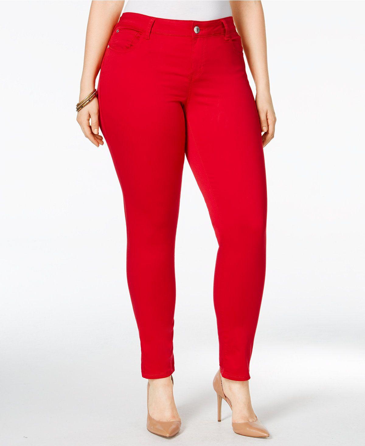 d0e4aebc3c441 Celebrity Pink Trendy Plus Size Colored Wash Skinny Jeans - Jeans - Plus  Sizes - Macy s